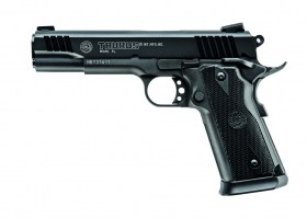 PT 1911 45 ACP BLUE left view